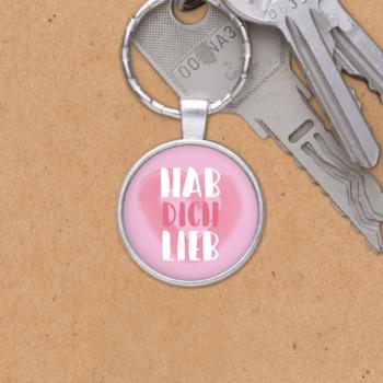 Schlüsselanhänger Hab dich lieb